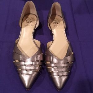 Vince Cameron Silver Flats Size 8 1/2